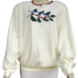Alfred Dunner 110Ivory Sweaters Large